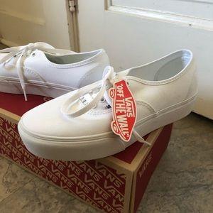 Brand New White platform vans (never worn)